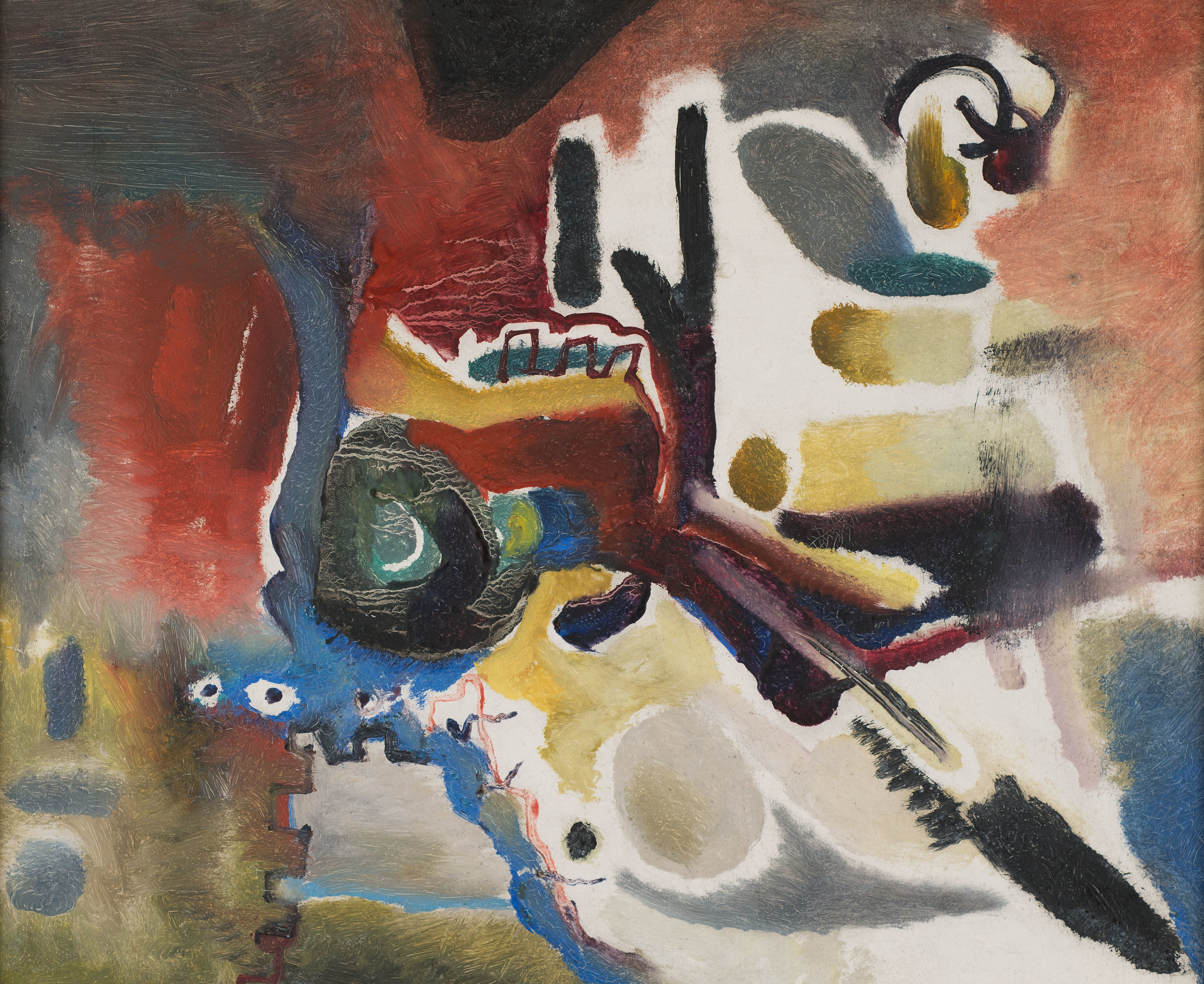 Untitled (2), oil on canvas, 23.75 x 27