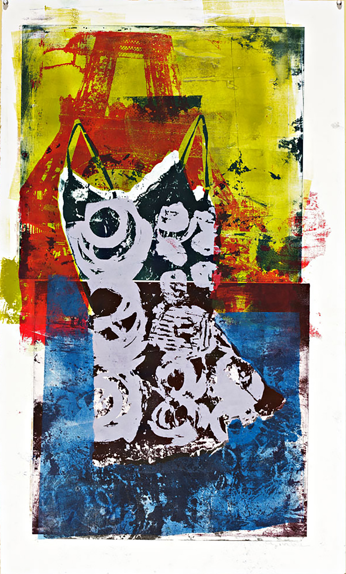 So French, Monoprint,42 x 30,$900