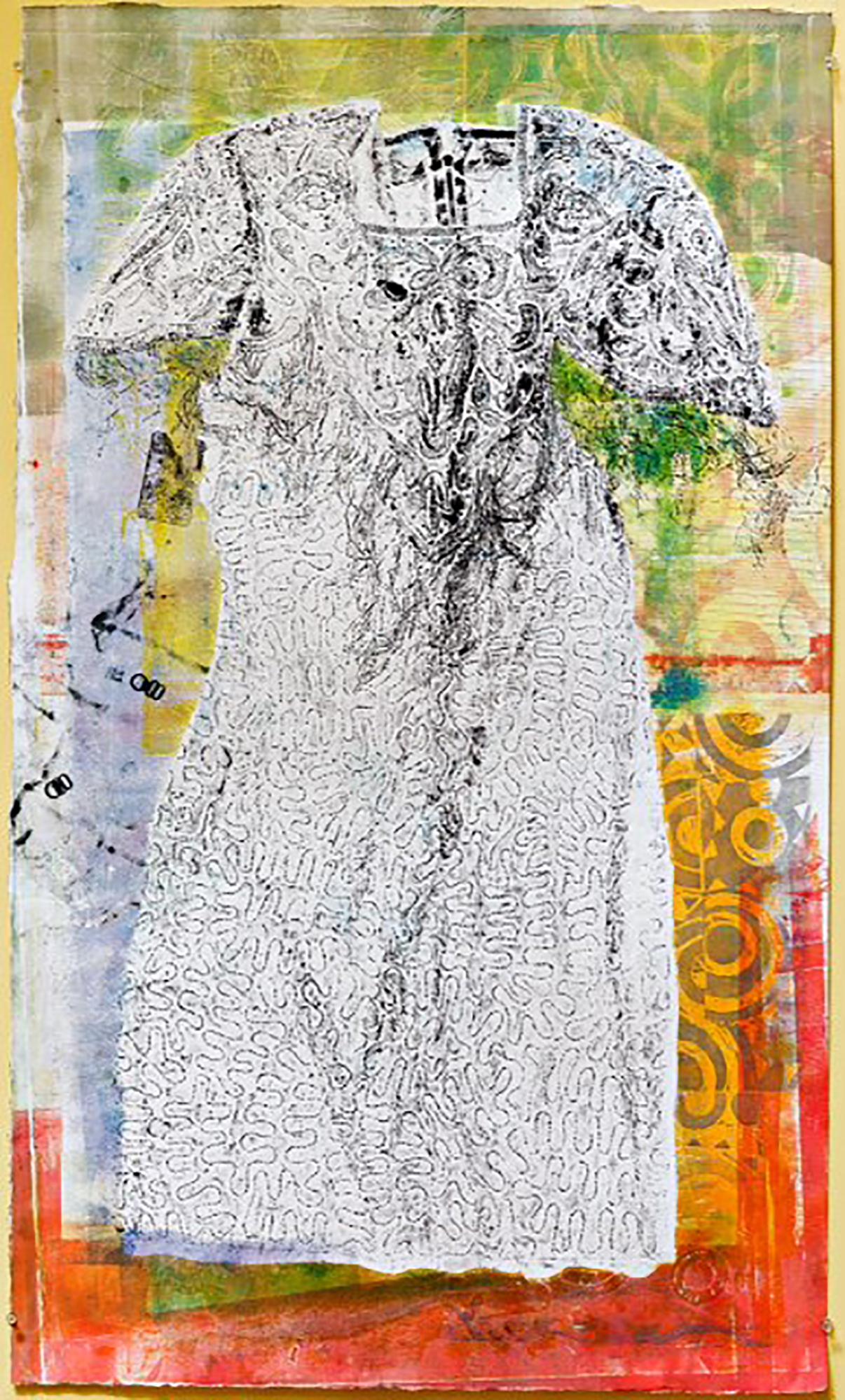 Sadie, Monoprint,48 x 28,$900