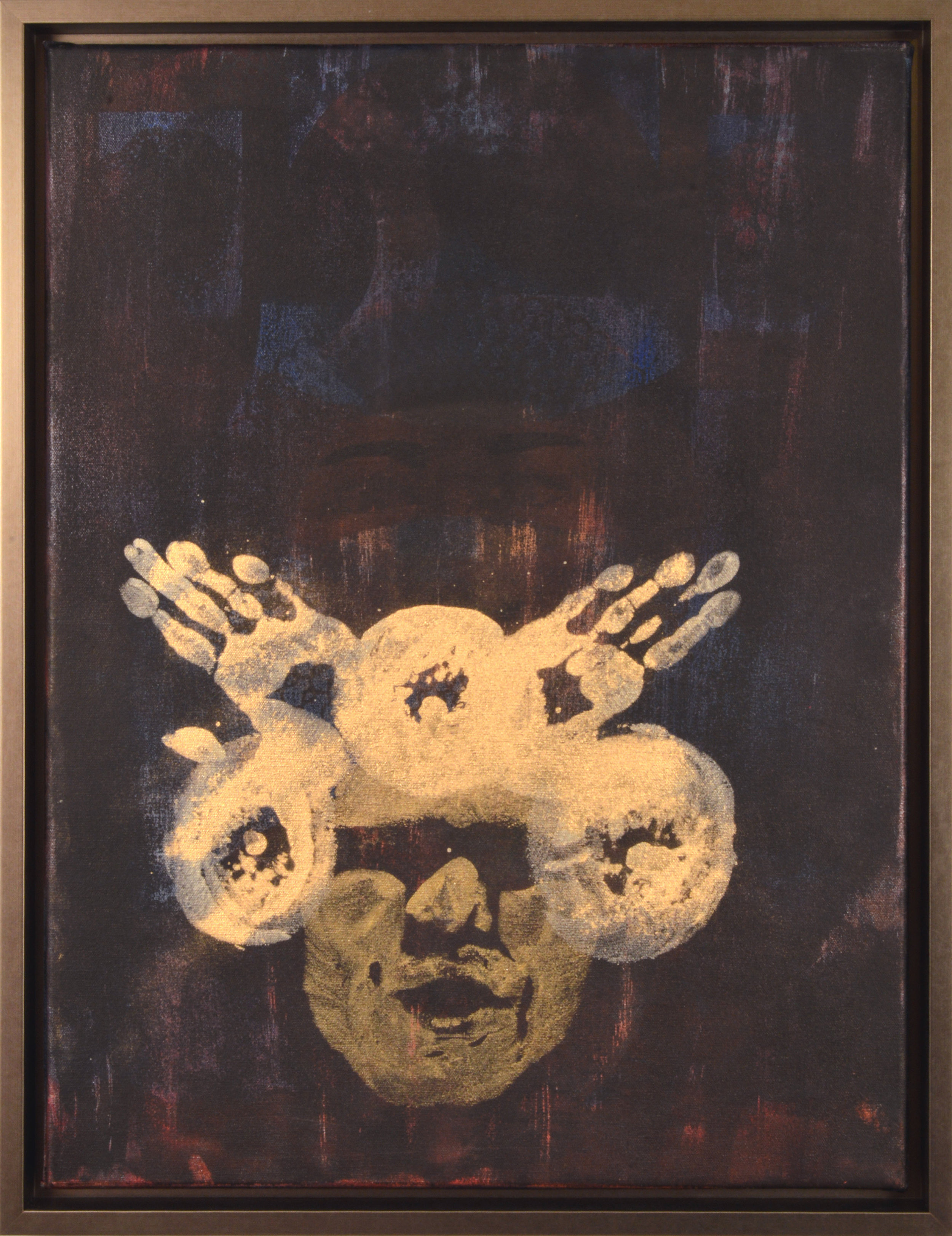 Crowning,  Mixed media and gold pigment on canvas, 26 x 20, $1,400
