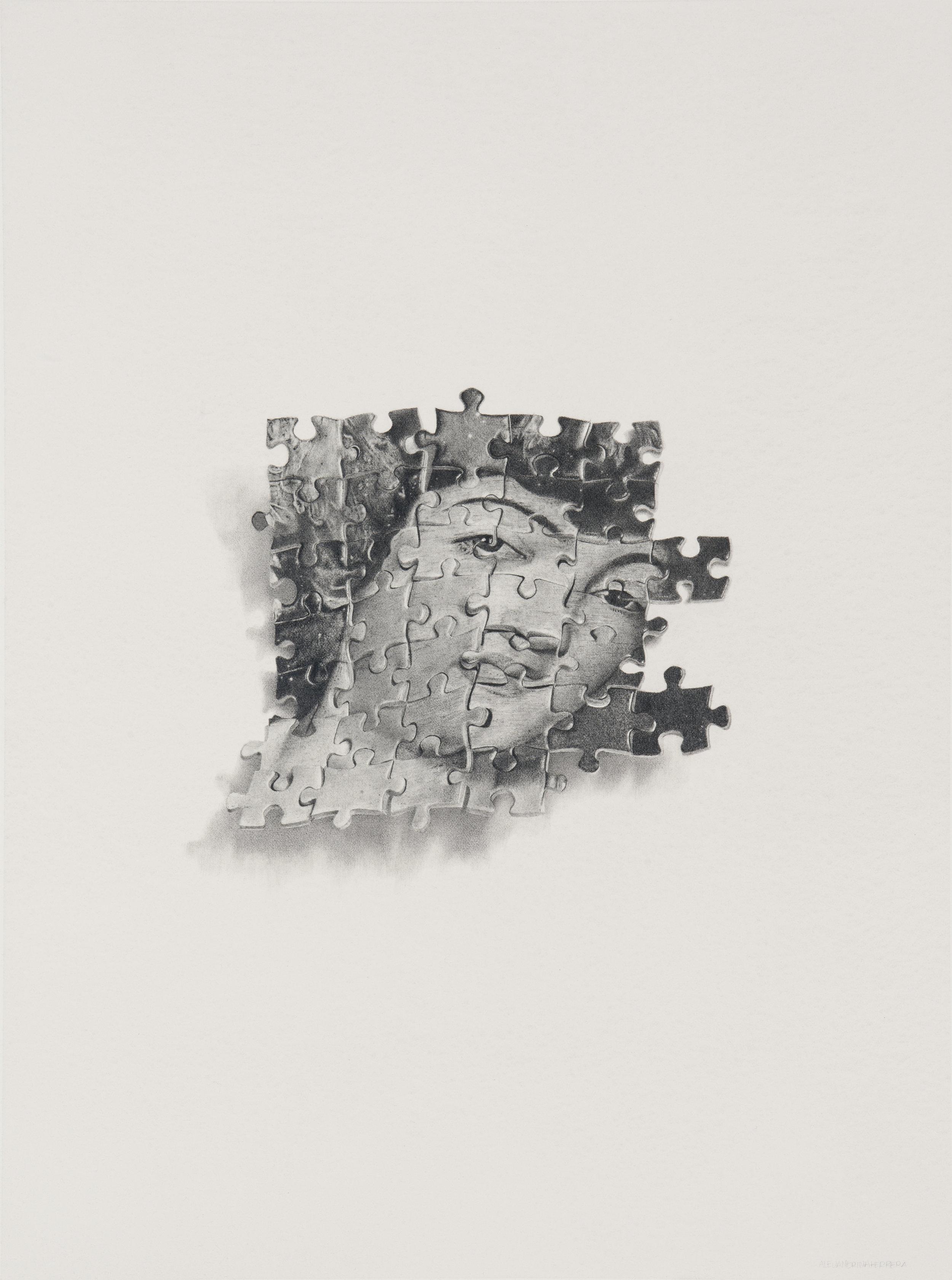 Alejandrina Herrera,  Kinds of Puzzles No. 1 , Pencil on paper, 24 x 18, $1600