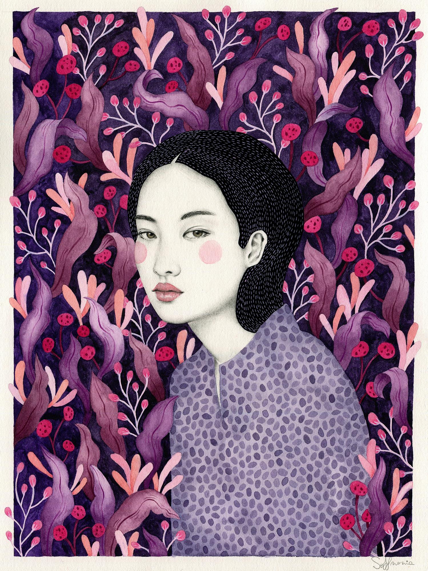Sofia Bonati,  Lucinda , Watercolor on paper, 13 x 9.5, $800