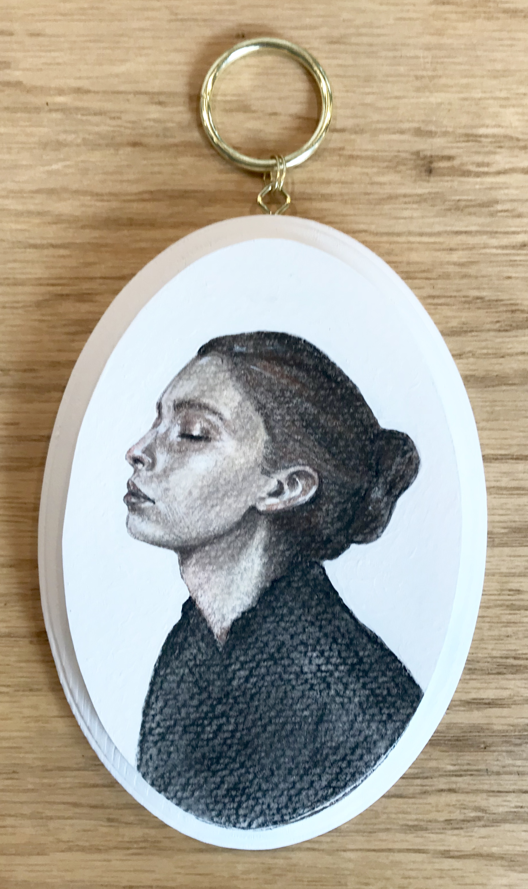 Hannah Reeves,  Tess , Chalk on mounted paper, 6 x 4, $140