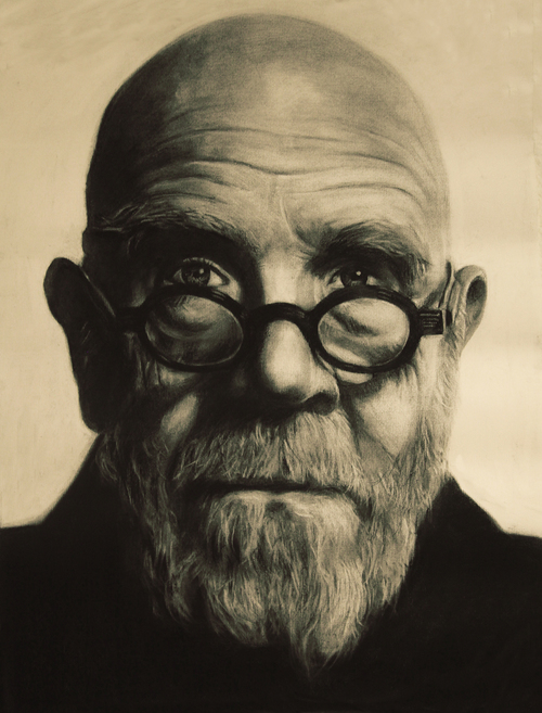 Chuck Close. 2012. Charcoal on Paper