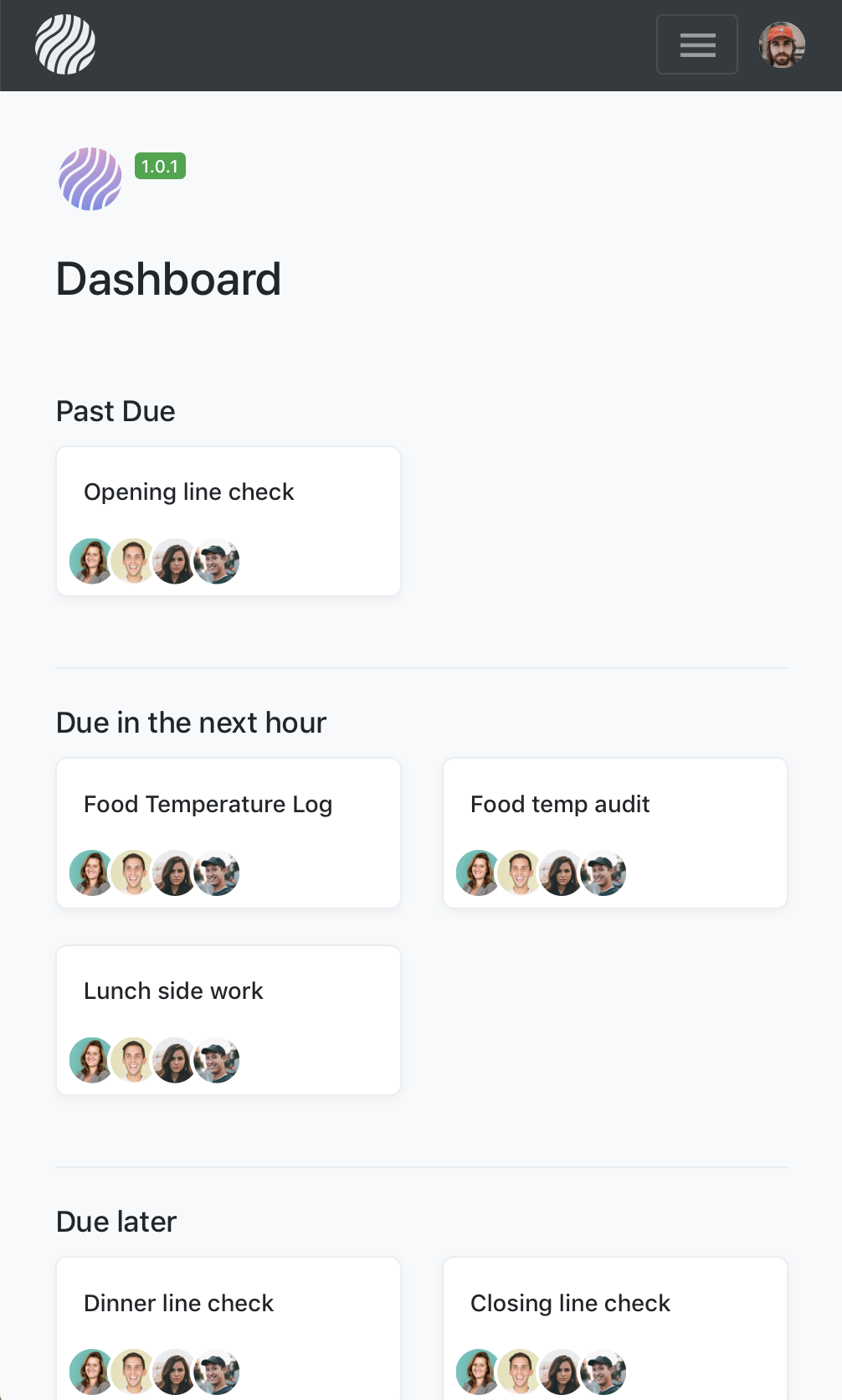 LineCheck - Schedule and monitor your restaurant's checklists and food temperature logs.