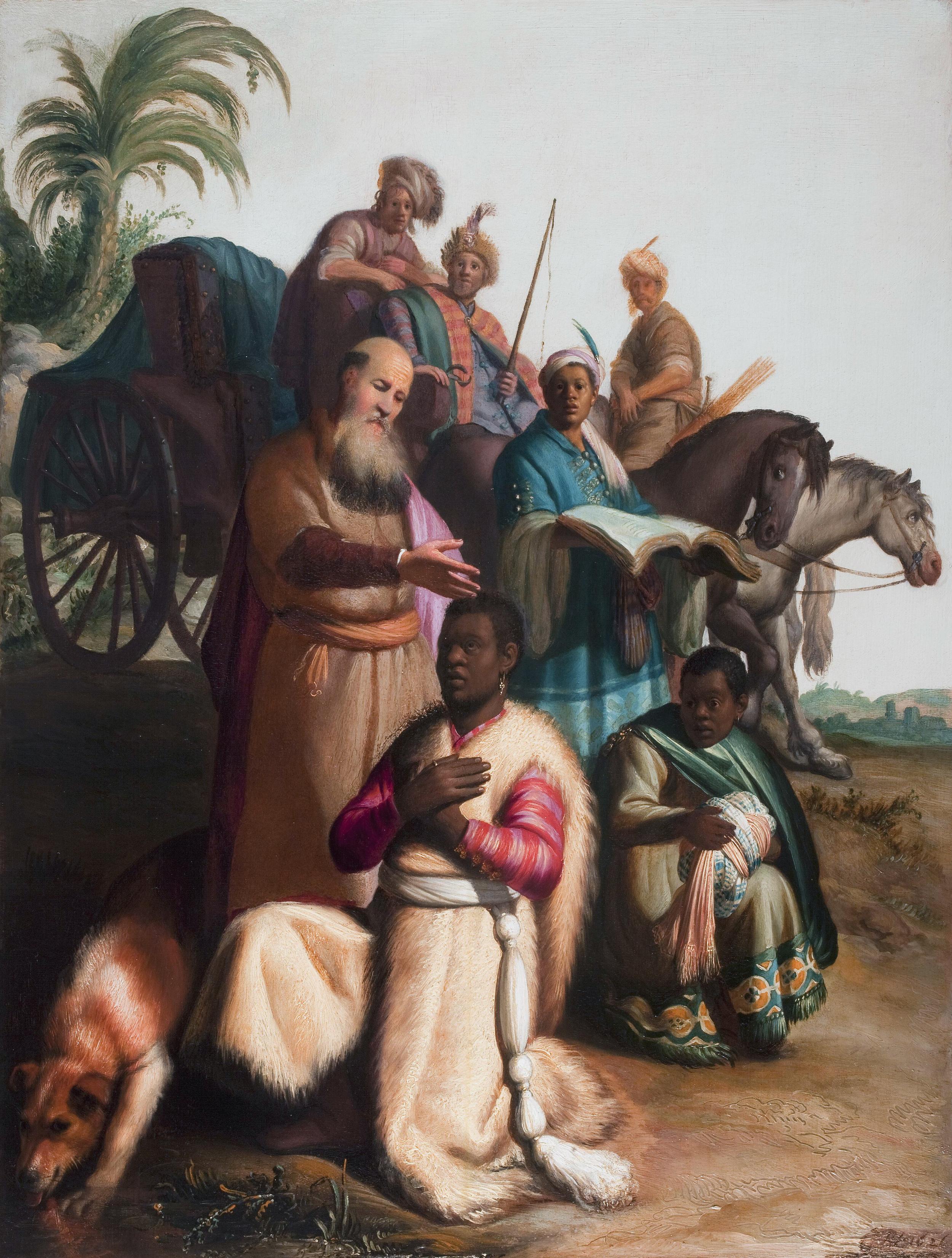 Baptism of the Eunuch, Rembrandt, 1626