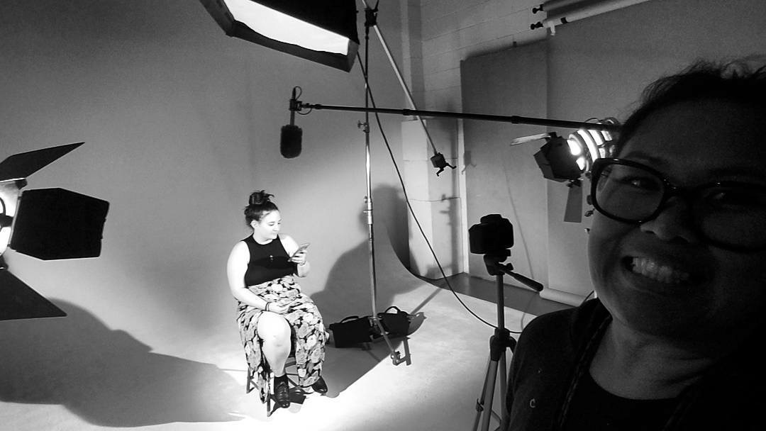 Behind the scenes at Rae's first residency interview with Alison Stevenson