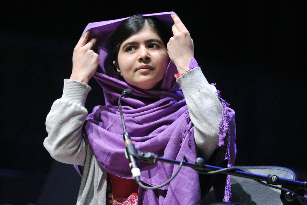 Nobel Peace Prize winner Malala Yousafzai in 2014. Photo courtesy  Southbank Centre . Photo used under CC by 2.0.