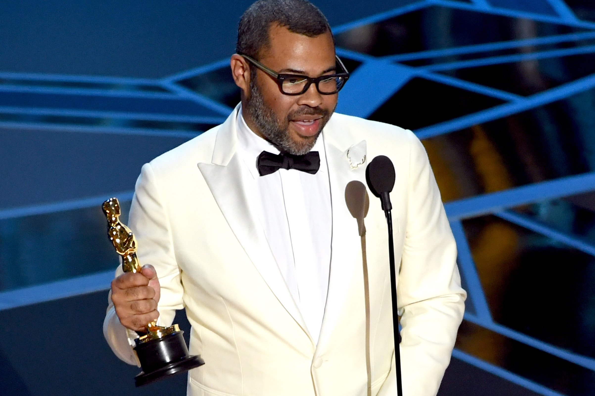 Jordan Peele, writer and director of  Get Out , made Oscar history last night as the first black person to win Best Original Screenplay.