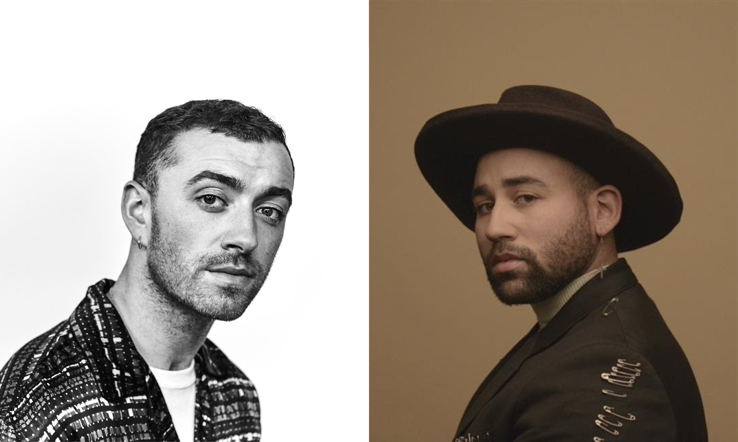 Parson James and Sam Smith represent two other queer artists who utilize religious language in their music. Photos courtesy Capitol Records and RCA Records.