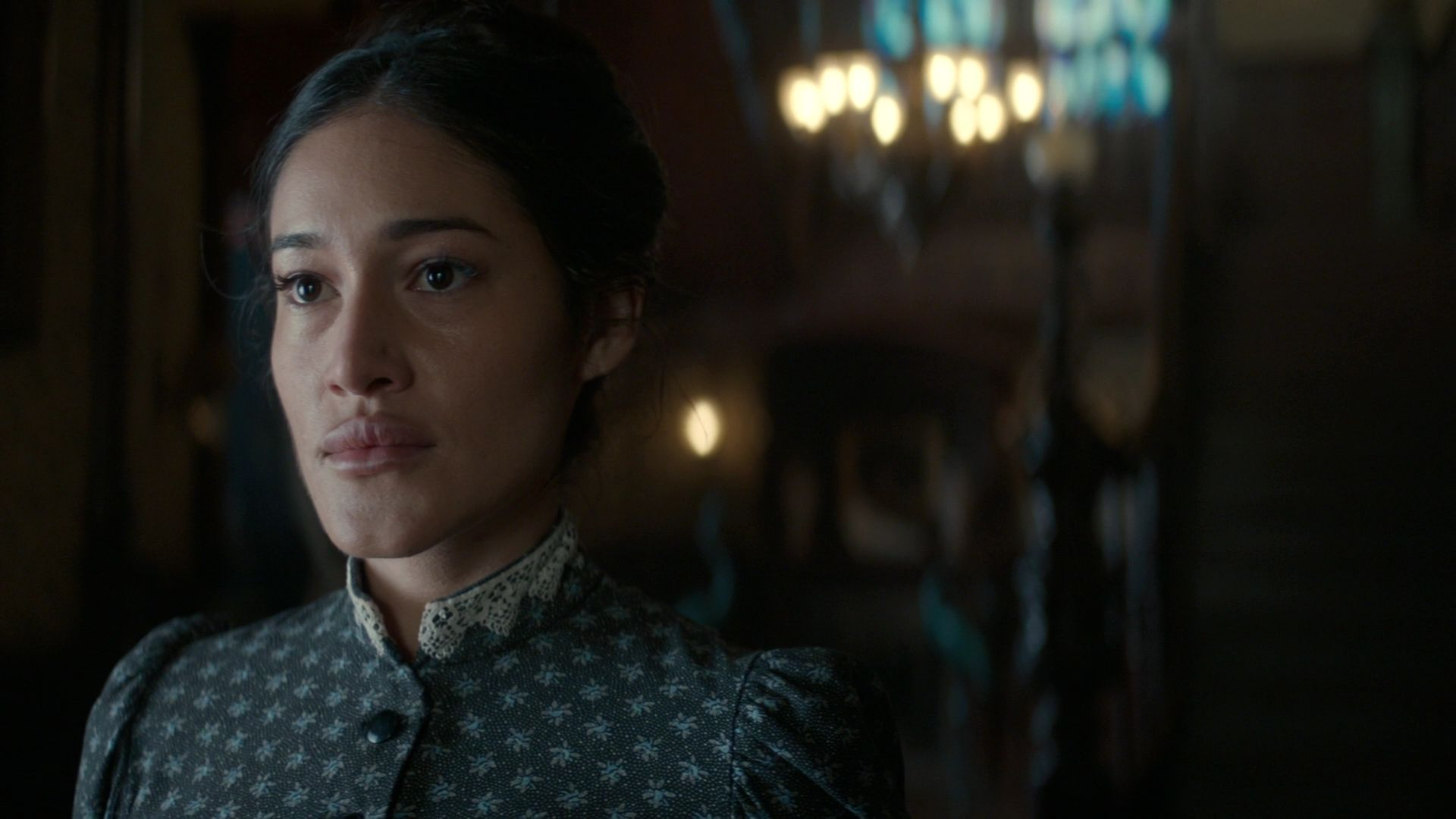 Q'orianka Kilcher stars as Mary Palmer in season one of TNT and Netflix's period drama  The Alienist. That is, until the show's writers up and fridge her. Fuckers.