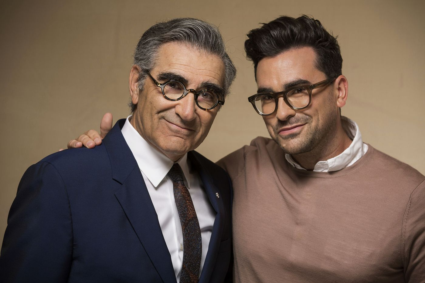 Dan and Eugene Levy are a real-life father and son comedy team who play father and son on  Schitt's Creek.