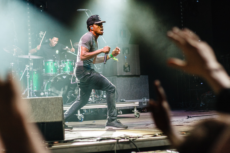 Chance the Rapper performing at a music festival. / Photo by Daniel Gregory   (CC BY-NC-ND 2.0)