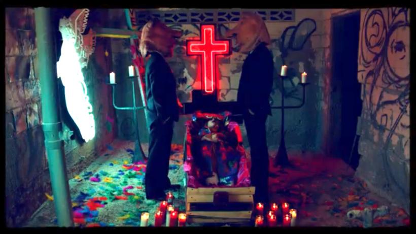 "The opening shot of ""Praying."" (Vevo)"