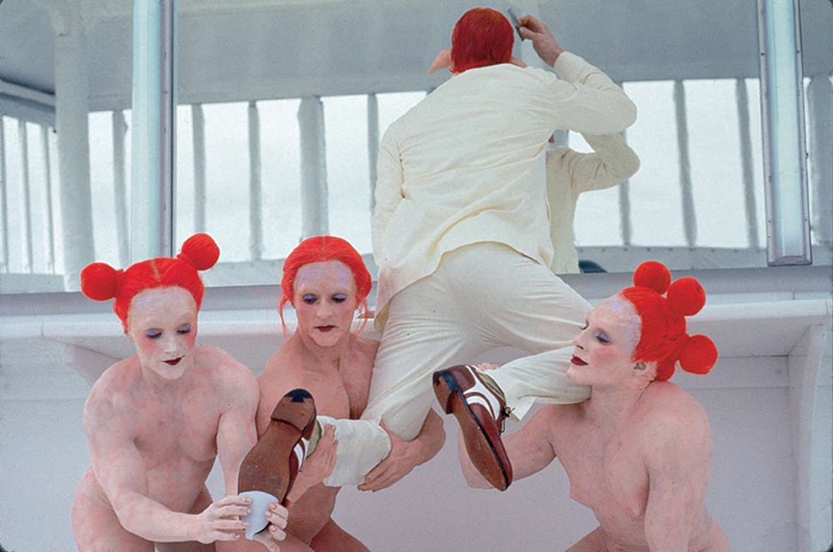 A still from Matthew Barney's  Cremaster Cycle , an experimental film which has influenced artists like Lady Gaga.