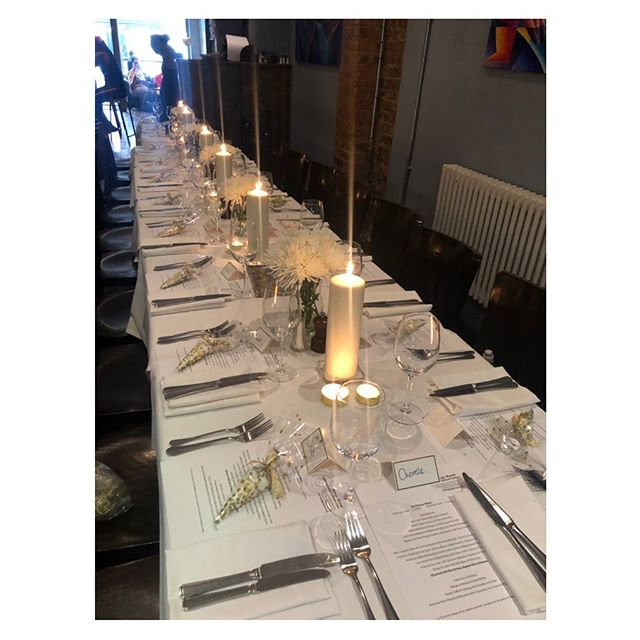 Yes we're still here! Had to share the cute setup for a birthday dinner last week. #birthdaydinner #eventplanner #london #camden #tablesetting