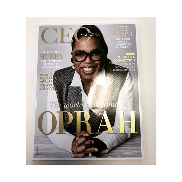 Inspirational CEO's like Oprah are giving us a boost on this lovely grey day in London! #newweeknewgoals #inspiration #london #eventplanner #launchevent #partyplanner