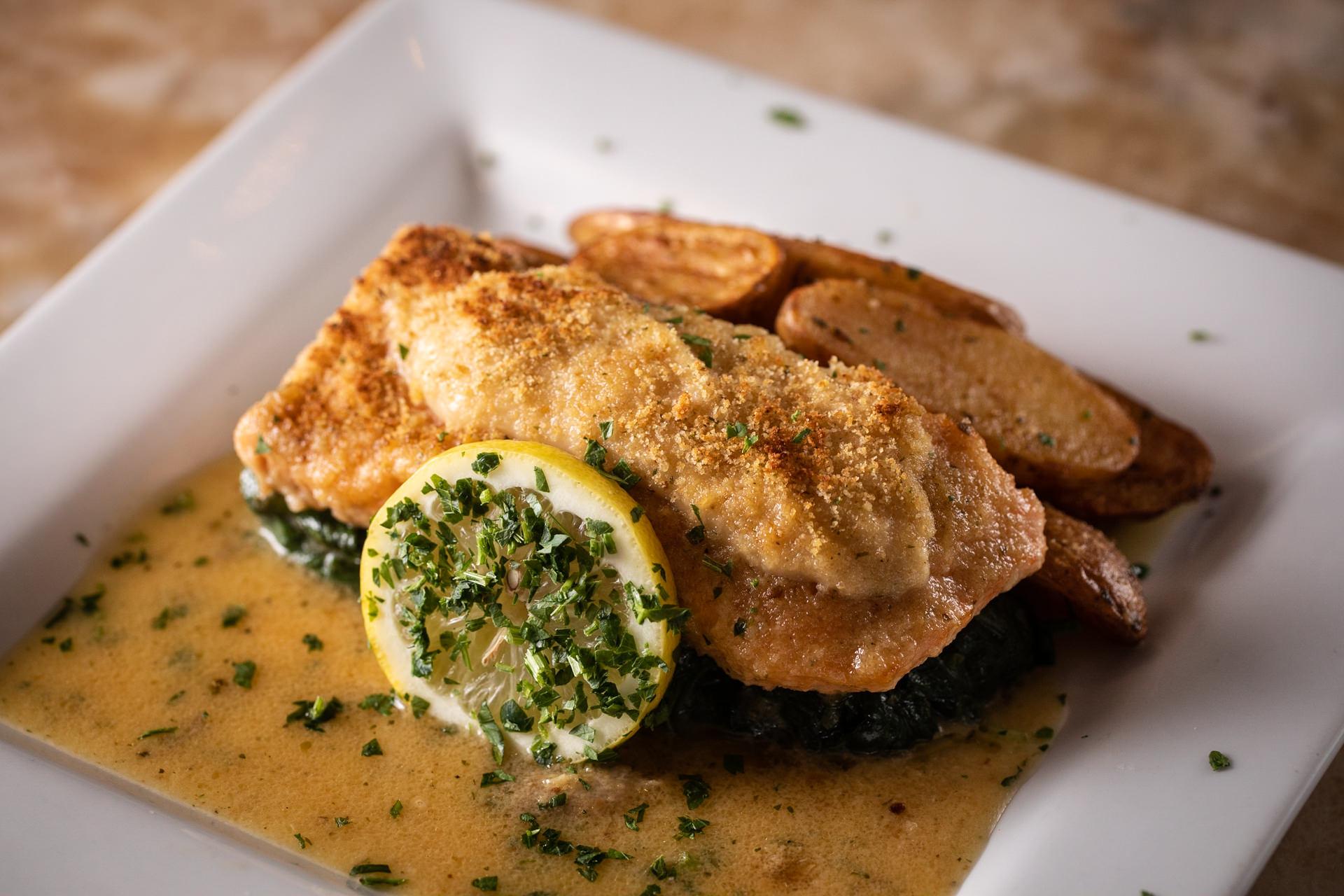 Garlic Crusted Salmon