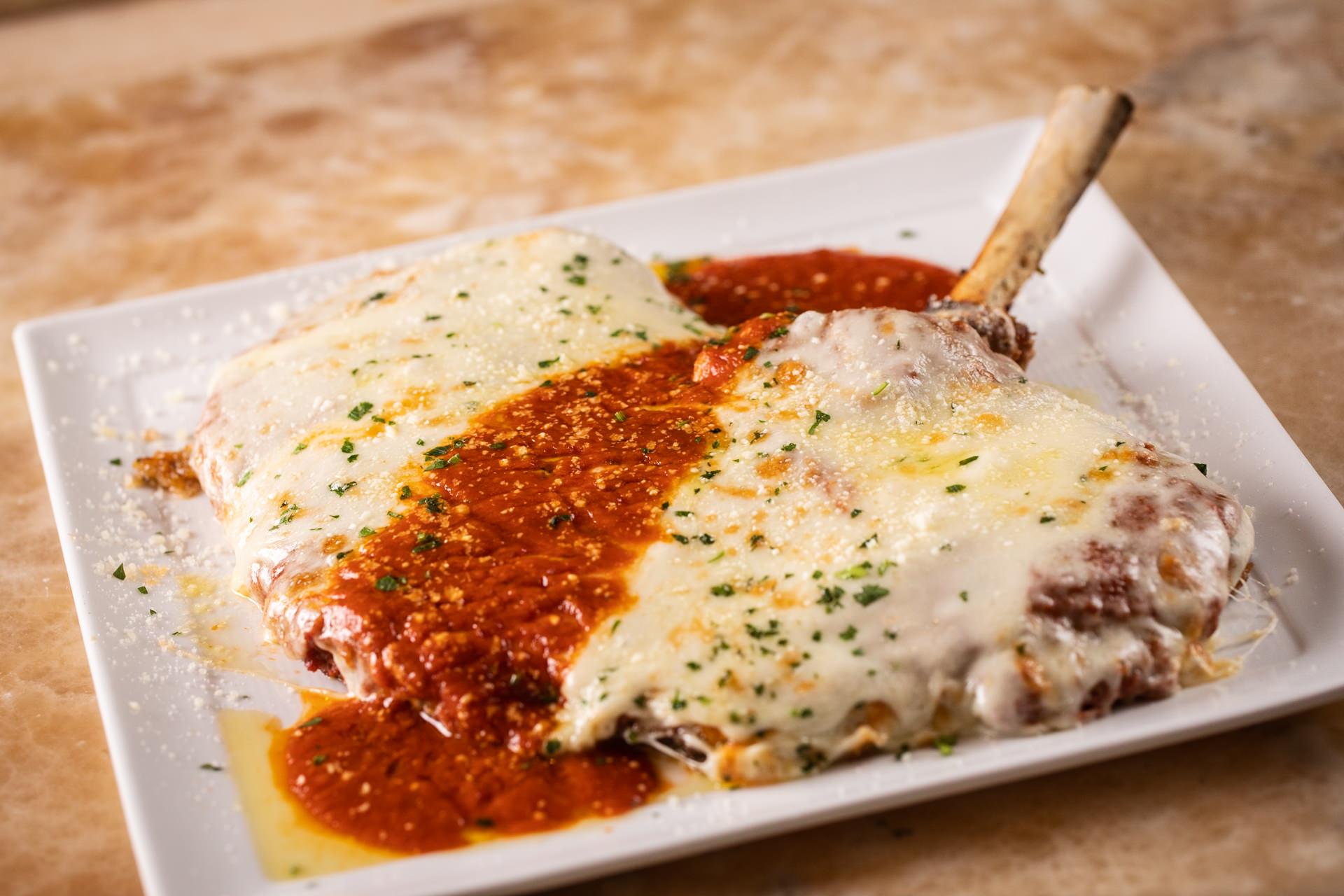Bone-In Veal Chop Parmesan