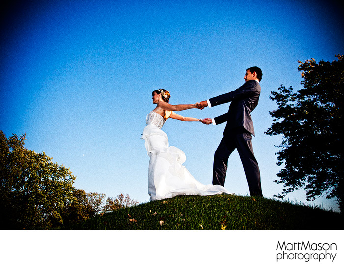 Lake Geneva Country Club elegant wedding portrait