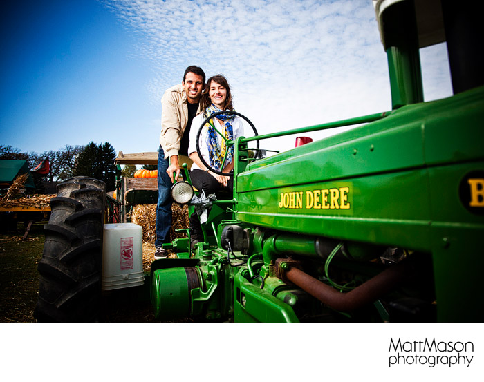 Pierces Farm Stand Engagement Photo