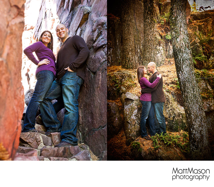 Romantic engagement portraits in Baraboo Wisconsin