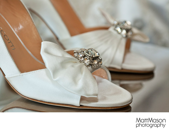 White Wedding shoes heals