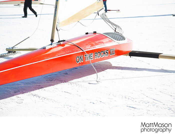 Close up of Ice Boat Fuselage