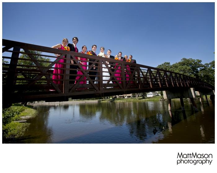 Burlington Wedding Party on Bridge