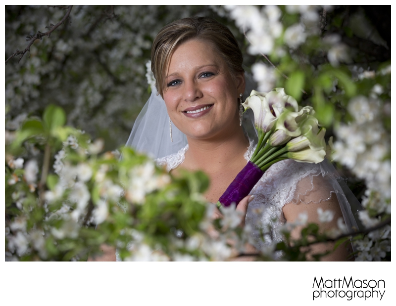Bride Wrapped in Blooming Tree