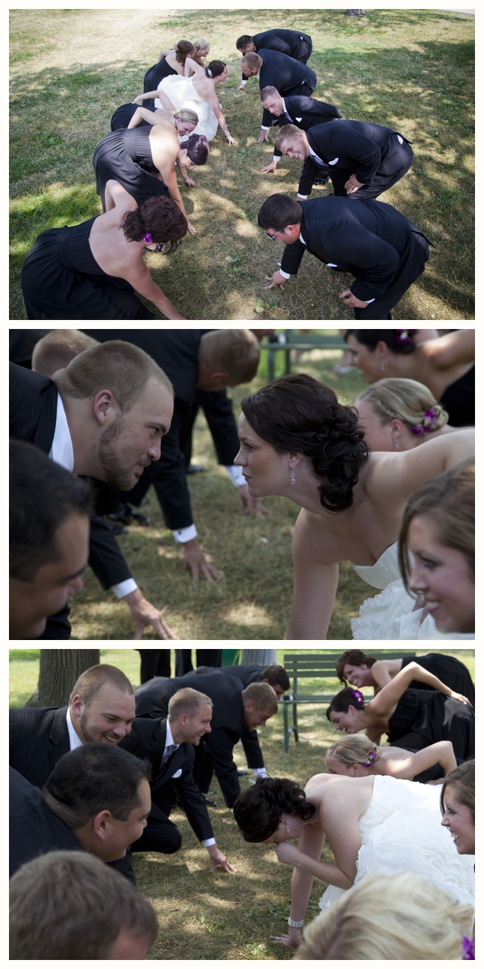 Wedding Party Three Point Stance