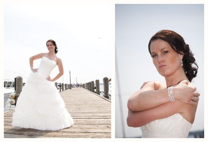 Bride on Pier in Lake Geneva
