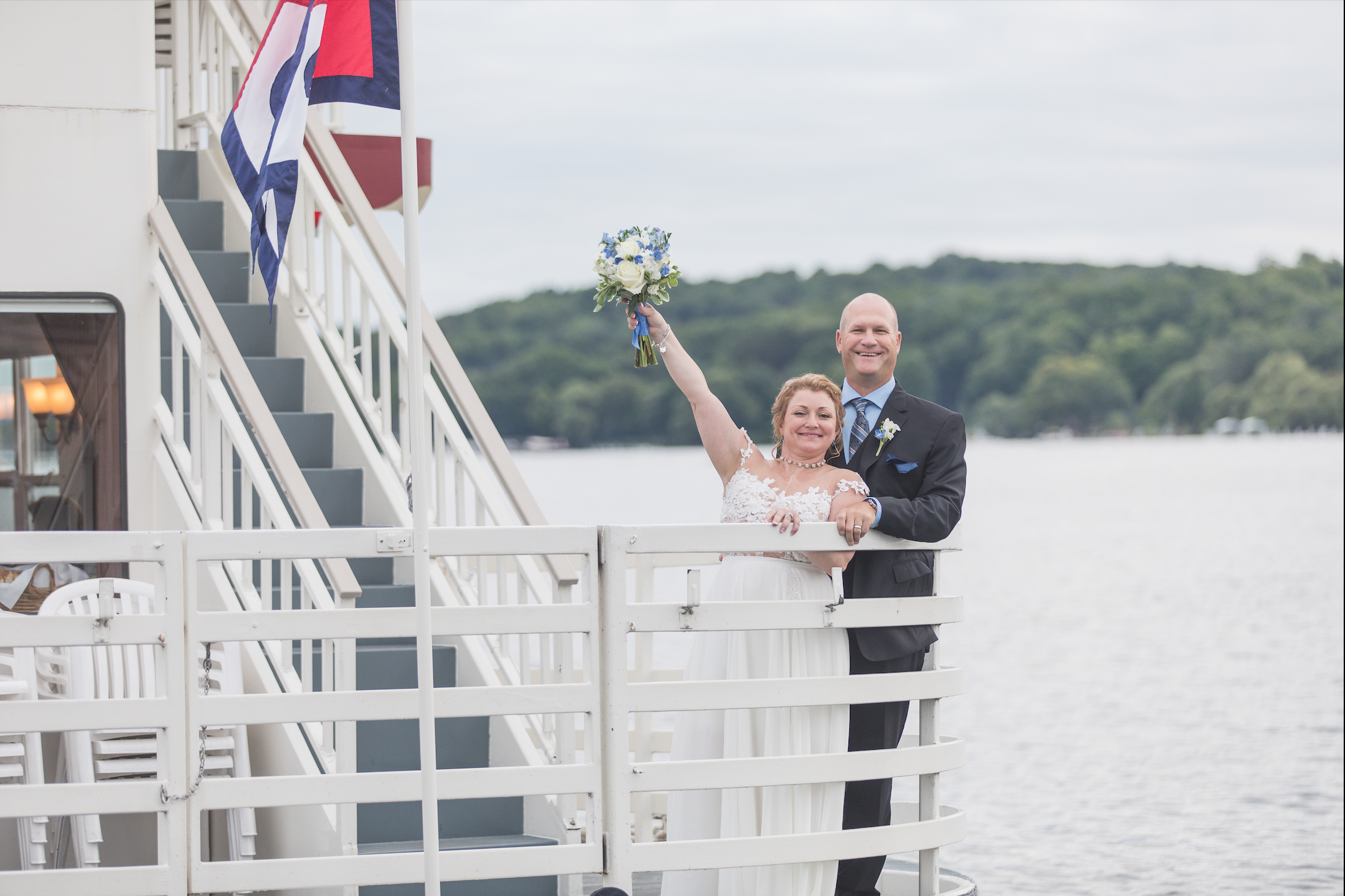 Linda + Rob at Lake Geneva Cruiseline  (July 14, 2017)