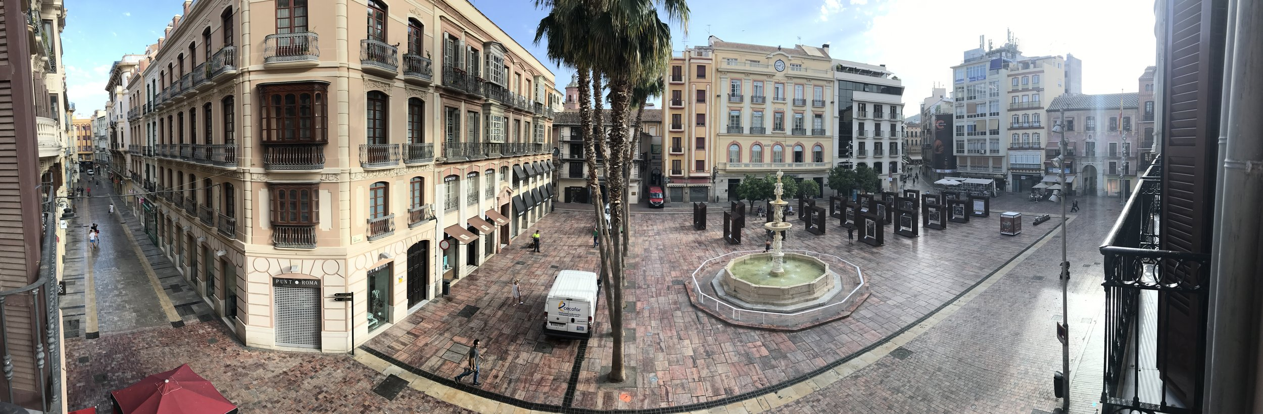 Use the pano feature of your smartphone to tell a more interesting story in one frame. Shot on vacation from our hotel room outside of Plaza de la Constitución.