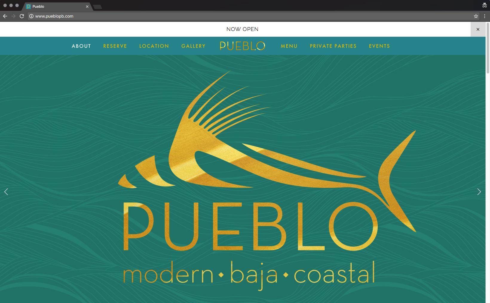 The Pueblo logo, tagline and colors.