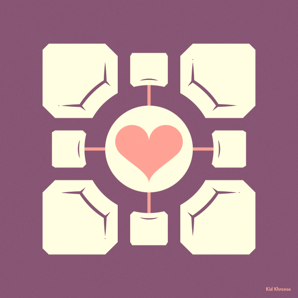 Backup: Weighted Companion Cube – Portal