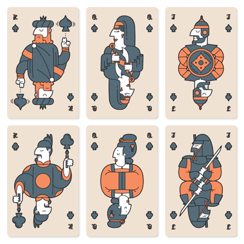 Histories: clubs and spades