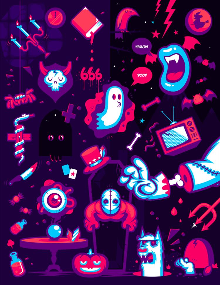Hallow: Halloween illustration