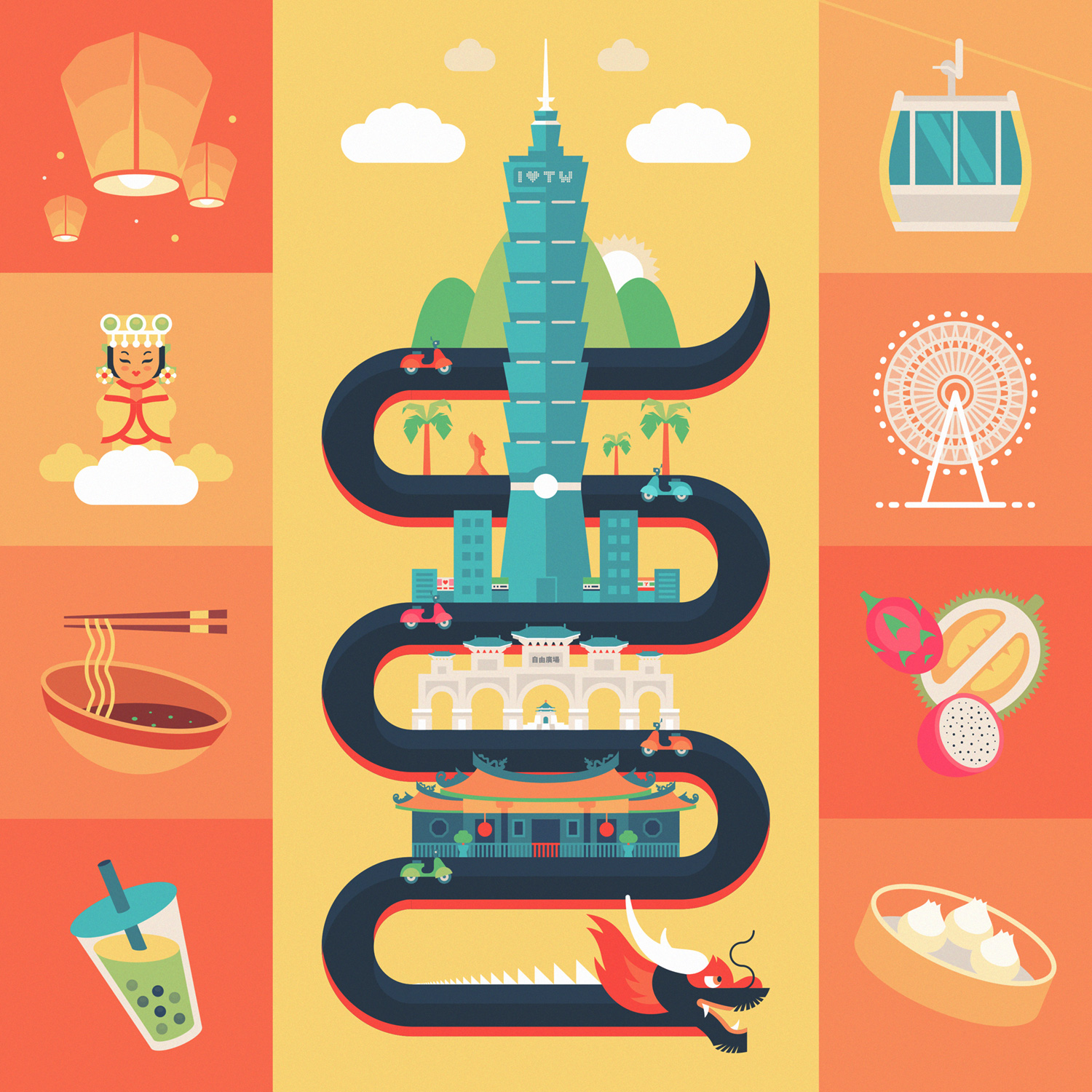Taipei, Taiwan: full design