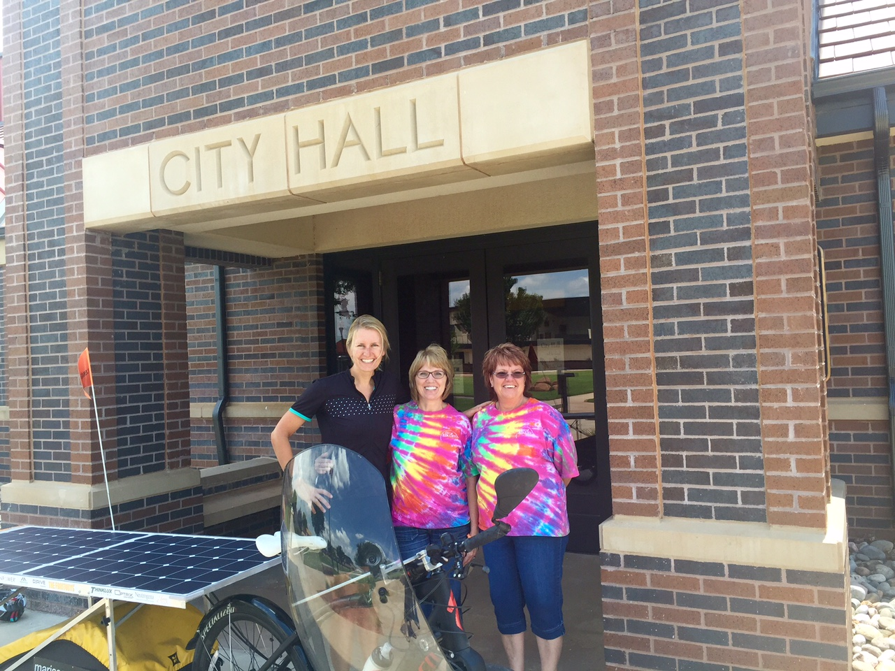Elk City town hall members sporting their wild shirts on Fun Friday