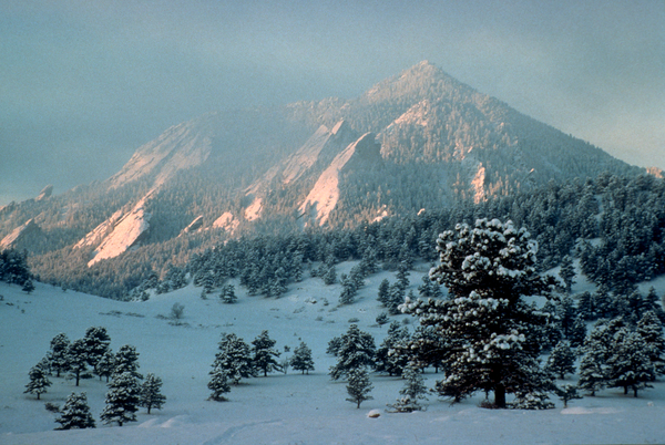 Snowfall Flatirons