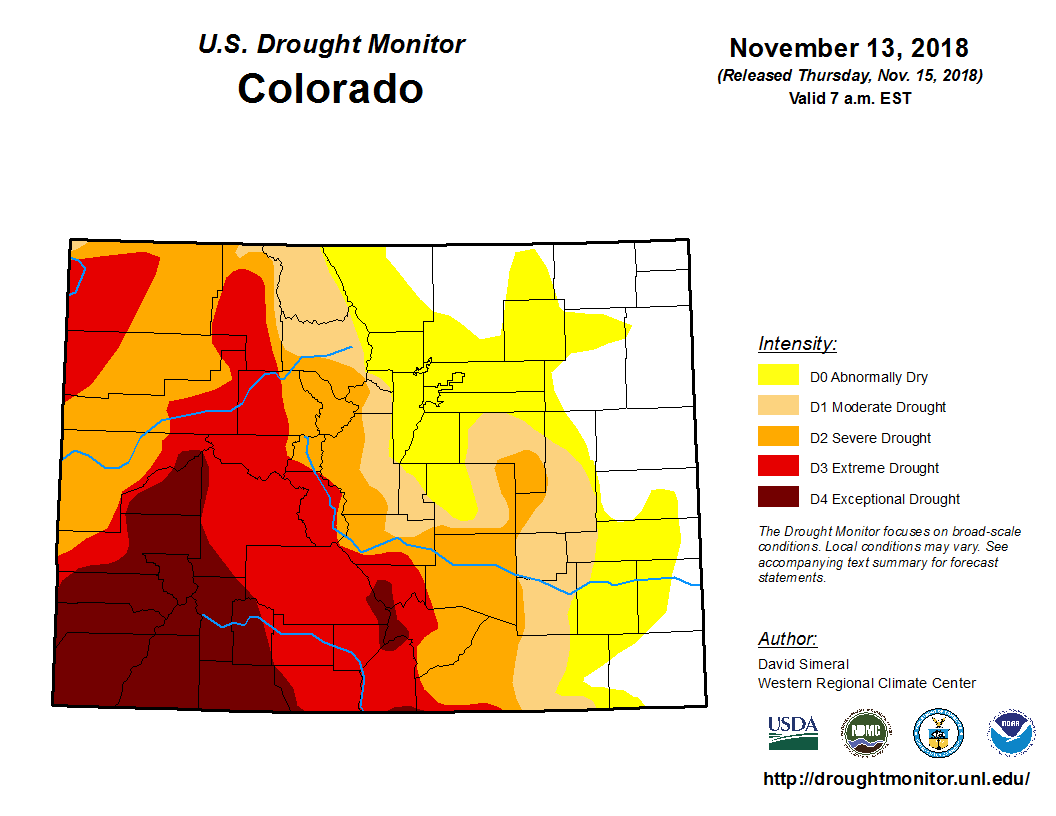 CO water conditions map