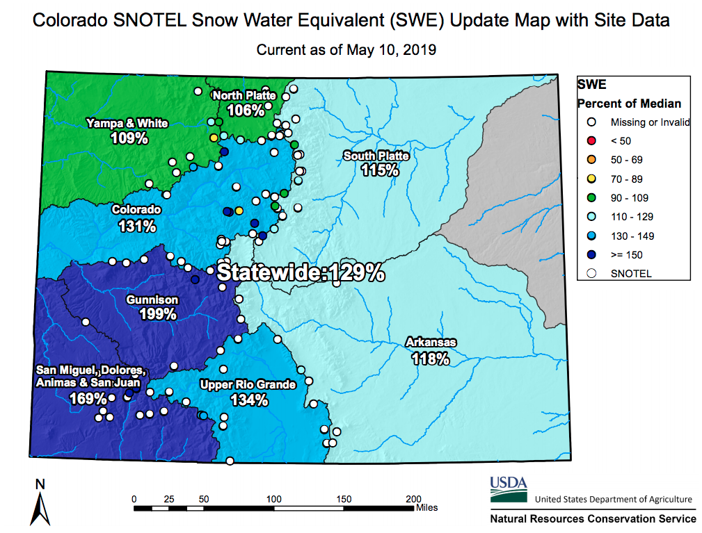 Colorado Snowpack Levels