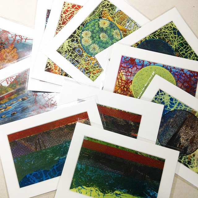**NEW** Upcycled Postcard Printmaking by Kaitlyn Wall Prints #madeinICT #colorcrush