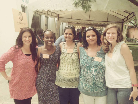 Dyan, Dorothy, Nisha, Sona, and Ali at the May 2014 Artisan Market