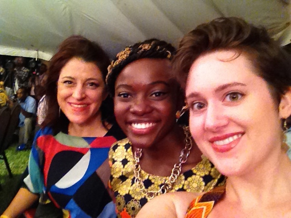 Dyan, Dorothy, and Ashley at Swahili Fashion Week