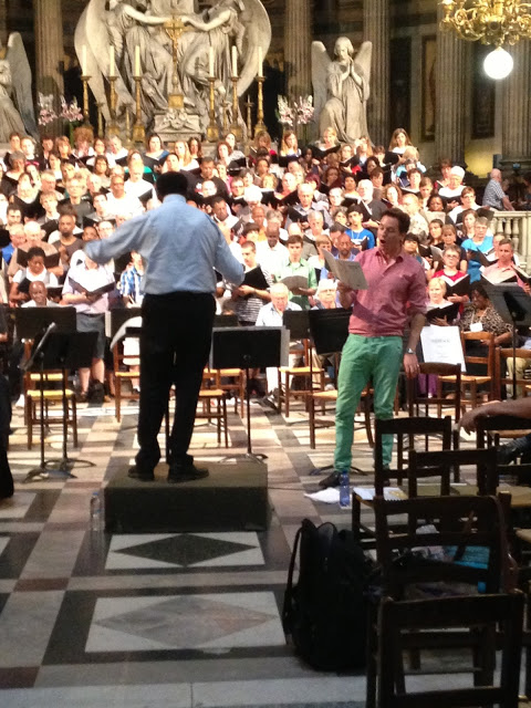 In rehearsal as Soloist in Bernstein's Chichester Psalms for the Festival Chorale de Paris July 2013 conducted by Andre Thomas