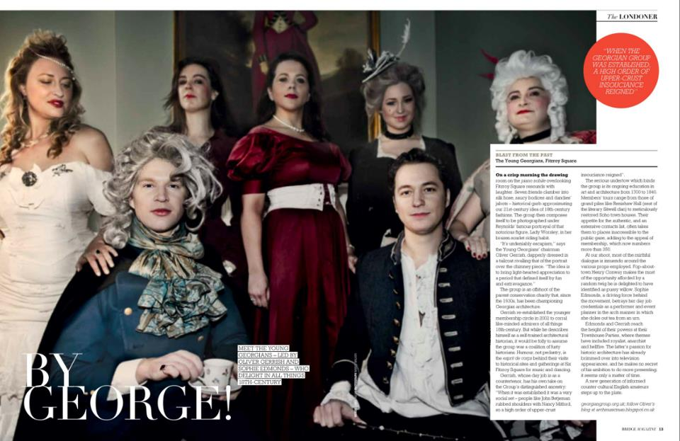 Bridge Magazine S/S 2013   By George!  Blast from the past: The Young Georgians, Fitzroy Square