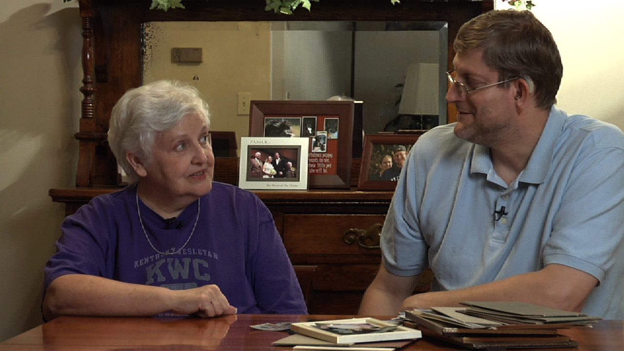 My mother Joanna Moore and myself, when we interviewed her for the film at my childhood home in Adair County, Kentucky.