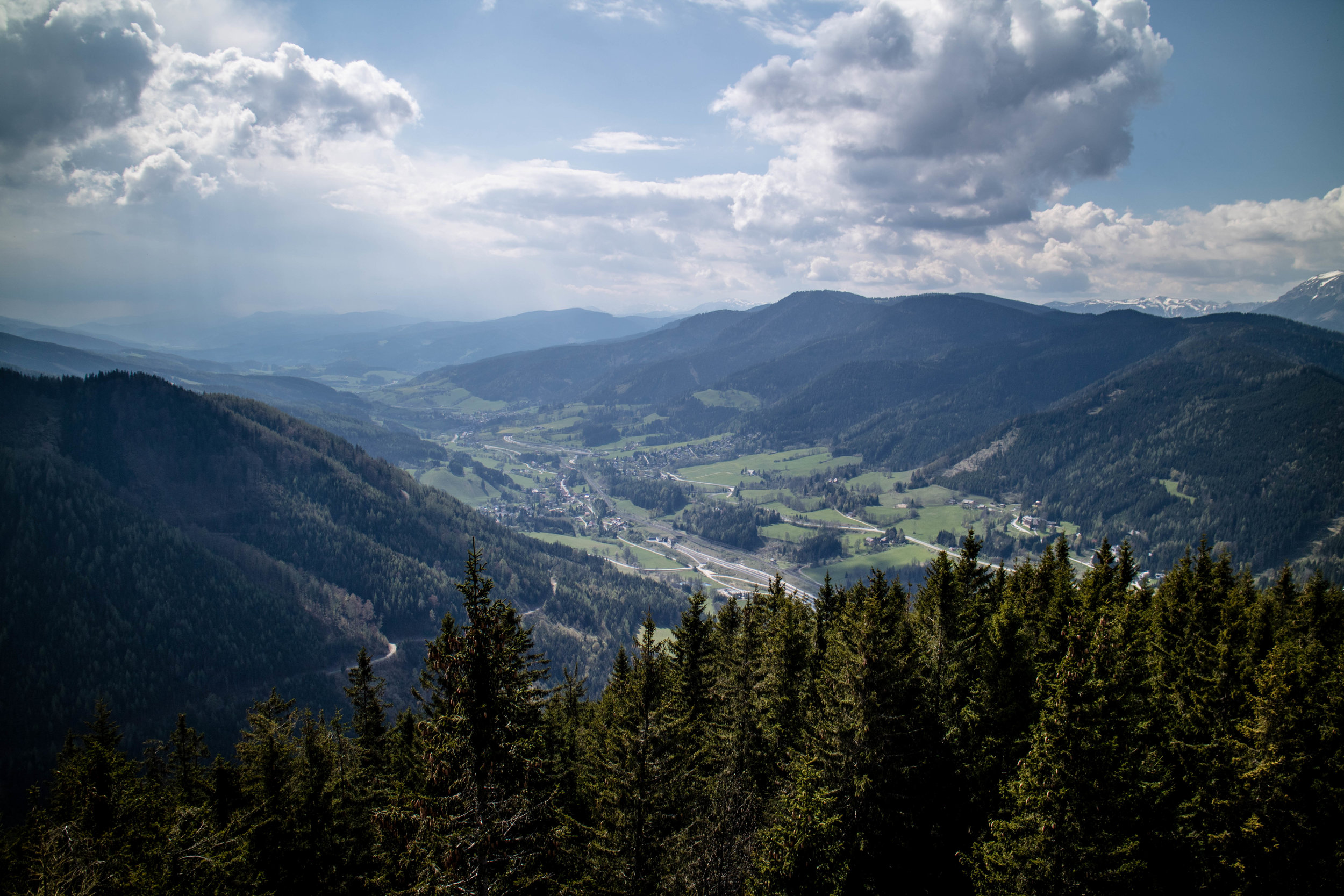 from the top of semmering